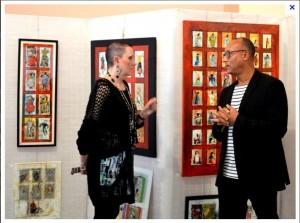 photo avec la peintre Dufort Magrie 2015